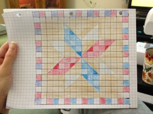 Color Sketch of the Quilt of Valor