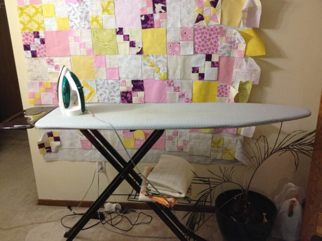 Old ironing board before the remodel