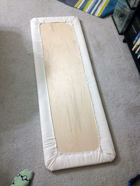 Board with batting & canvas applied