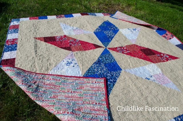 Memorial Day weekend was a perfect time to finish the Quilt of Valor