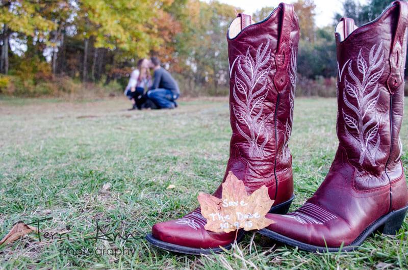 Chris & Katie Engagement Cowboy Boot