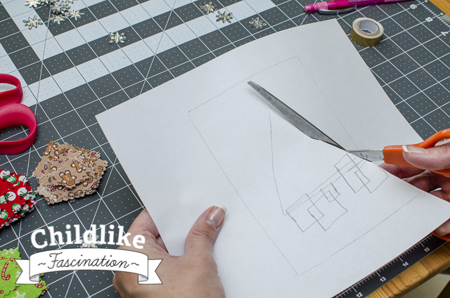 Cut out the tree triangle to make pattern