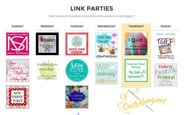 Weekly quilt along link parties