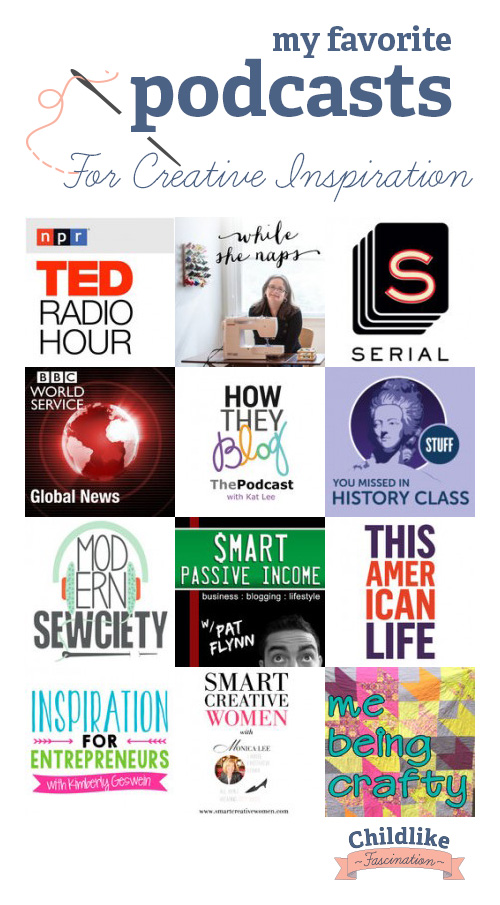 Pinnable - Favorite Podcasts for Creative Inspiration