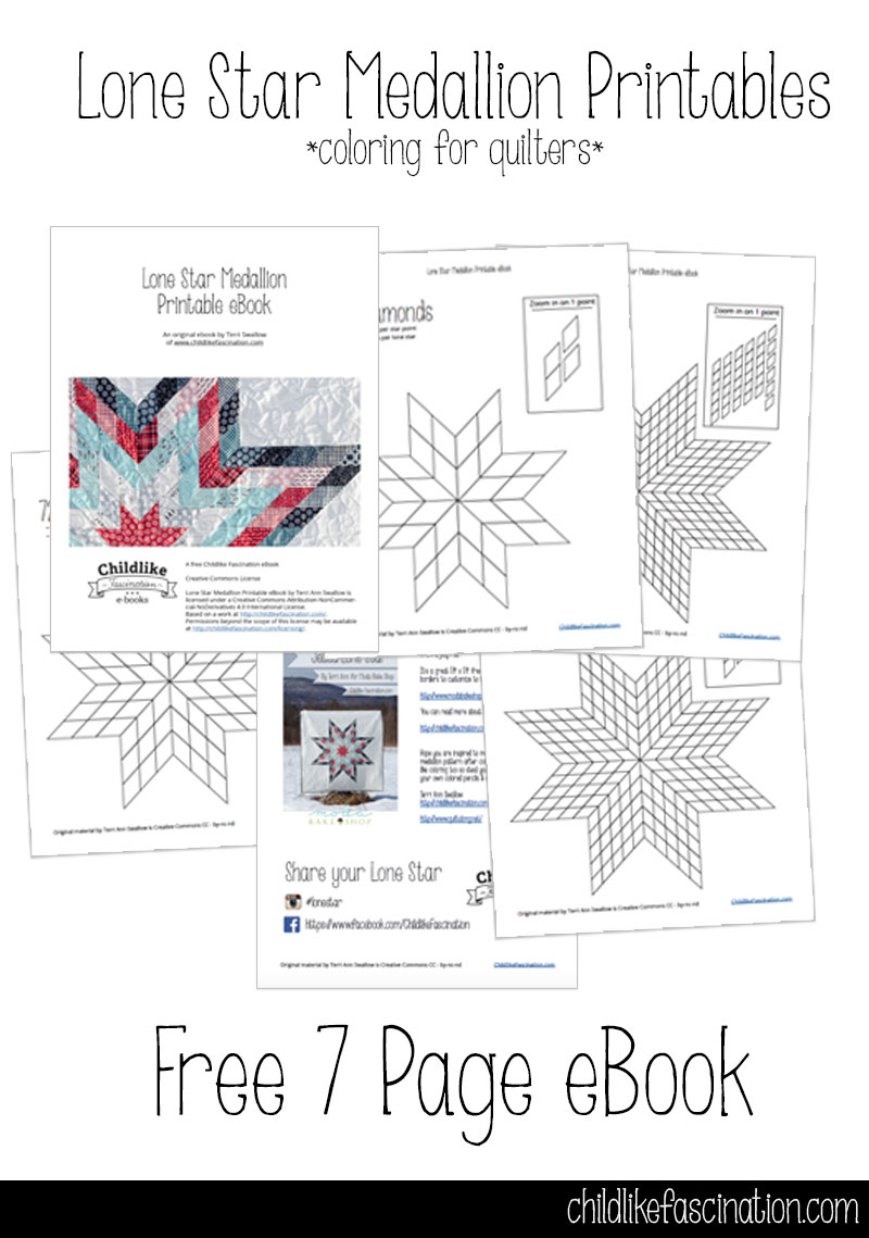 Lone Star Medallion Free Coloring Printable Download - design your own lone star quilt
