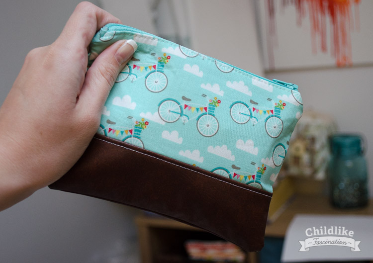What a perfect size for a little leather bottom clutch!