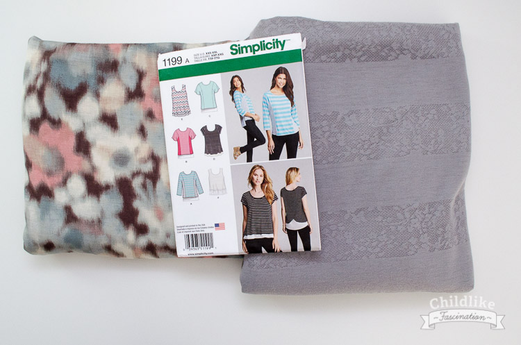 Fabric for flutter knit top