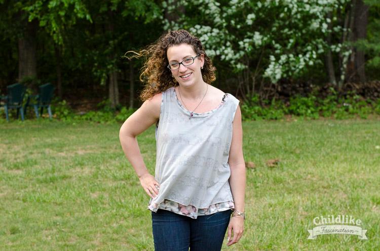 Terri Ann in the flutter knit tank