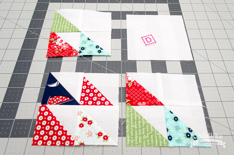 Sew four patches