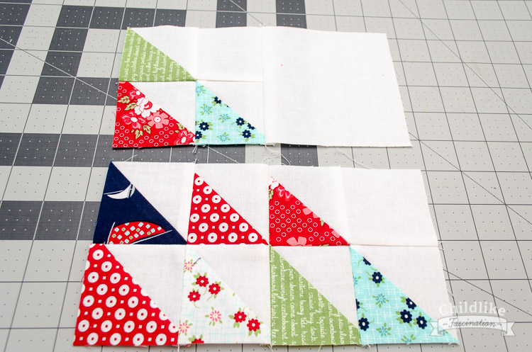Sew four patch together