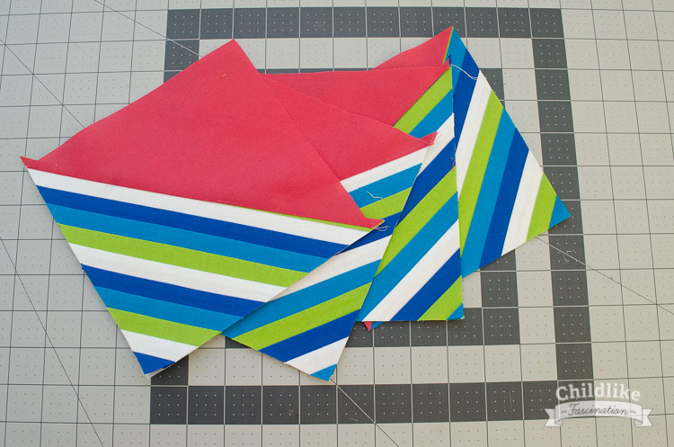 All four string half square triangle blocks