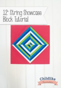 "String Showcase 12"" Quilt Block Tutorial - great scrap buster and spin on a simple HST layout"