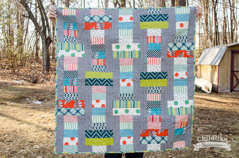Finished Jelly Roll Slice baby quilt