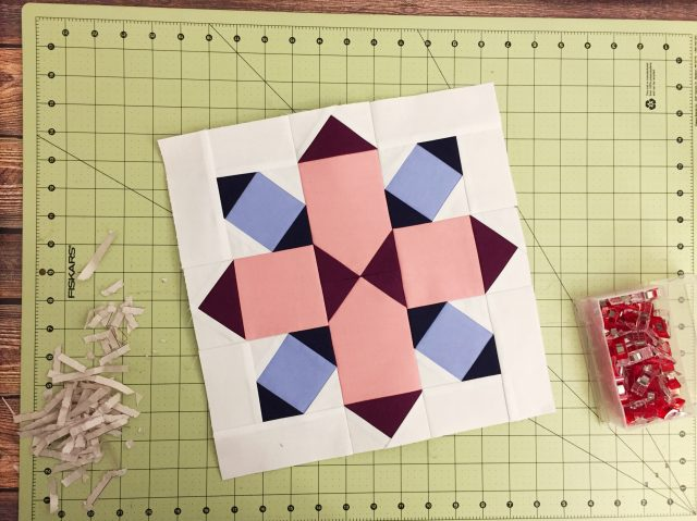Sew rows together to complete the block