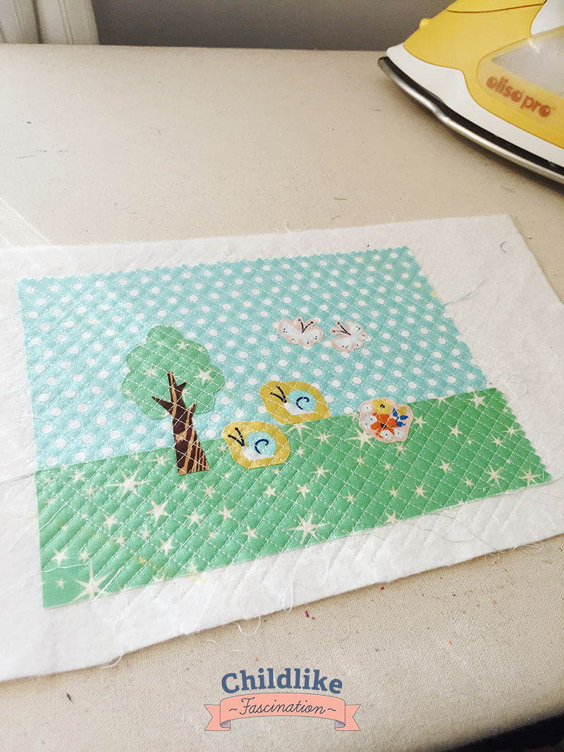 Love how the quilting came out on this little postcard!